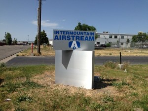 Metal Monument Sign Salt Lake City