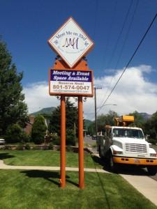 Salt Lake Pole Business Sign
